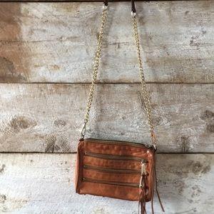 Rebecca Minkoff cross body leather chain bag